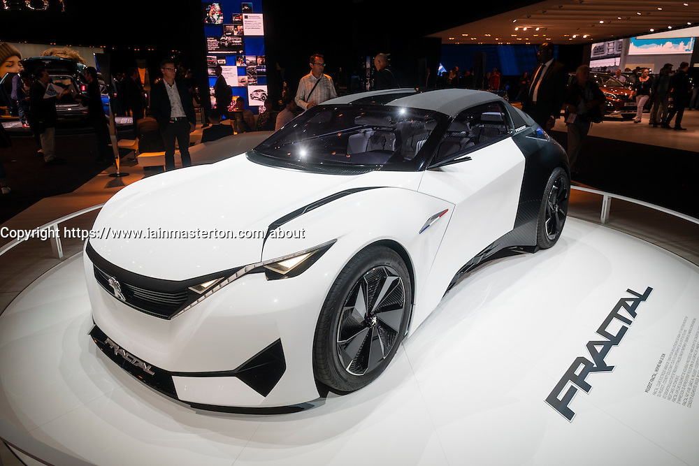 Peugeot Fractal electric concept car at Paris Motor Show 2016