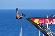 Maria Paula Quintero of Colombia during the Red Bull Cliff Diving World Series 2018 on September 23, 2018 in Polignano a Mare, Italy - Photo Marco Verri / ProSportsImages / DPPI
