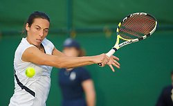 LONDON, ENGLAND - Wednesday, June 24, 2009: Francesca Schiavone (ITA) during her Ladies' Singles 2nd Round victory on day three of the Wimbledon Lawn Tennis Championships at the All England Lawn Tennis and Croquet Club. (Pic by David Rawcliffe/Propaganda)