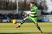 Forest Green Rovers Alex Bray(31) controls the ball during the EFL Sky Bet League 2 match between Forest Green Rovers and Crawley Town at the New Lawn, Forest Green, United Kingdom on 24 February 2018. Picture by Shane Healey.