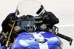 12.07.2015, Sachsenring, Oberlungwitz, GER, MotoGP, Grand Prix von Deutschland, im Bild Motorrad von 46 Valentino Rossi / IT // during MotoGP Grand Prix of Germany Sachsenring in Sachsenring in Oberlungwitz, Germany on 2015/07/12. EXPA Pictures © 2015, PhotoCredit: EXPA/ Eibner-Pressefoto/ Stiefel<br /> <br /> *****ATTENTION - OUT of GER*****
