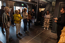 Pictured:  A group of tour promoters from America were the first people to enjoy a tour of the distillery.<br /><br />A new distillery for Edinburgh, The Holyrood Distillery, was available for viewing a day ahead of their official opening to the public on Tuesday 30 July 2019<br /><br /> Ger Harley | EEm 29 July 2019