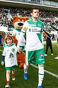 26.02.2017; St. Gallen; Fussball Super League - FC St.Gallen - FC Lugano; <br /> Lineup Kids vor dem Spiel<br /> (Marc Schumacher/freshfocus)
