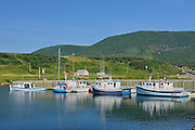 Fishing boats on Cape Breton<br /> St. Joseph du Moine<br /> Nova Scotia<br /> Canada