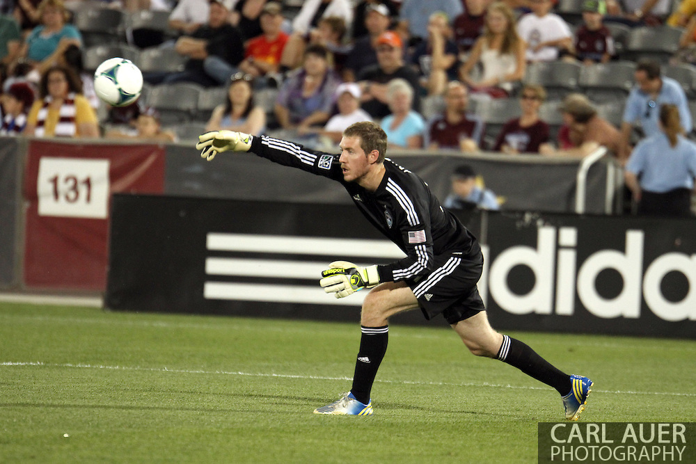 July 7th, 2013 - Colorado Rapids goalkeeper Clint Irwin (31) throws the ball into play in the second half of action in the Major League Soccer match between D.C. United and the Colorado Rapids at Dick's Sporting Goods Park in Commerce City, CO