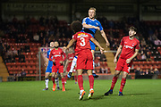 Joe Widdowson (3) of Leyton Orient during the Vanarama National League match between Leyton Orient and Gateshead at the Matchroom Stadium, London, England on 24 October 2017. Photo by Robin Pope.