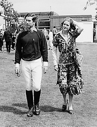 HRH The PRINCE OF WALES and LADY SARAH SPENCER<br />  at a polo match in July 1977.     IBJ 38