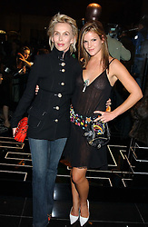 Left to right, TRUDIE STYLER and her daughter KATIE SUMNER at a party hosted by Versace during London Fashion Week 2005 at their store in Slaone Street, London on 19th September 2005.<br /><br />NON EXCLUSIVE - WORLD RIGHTS