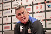 Owen Coyle (Manager) (Blackburn Rovers) during the press conference following the EFL Sky Bet Championship match between Rotherham United and Blackburn Rovers at the AESSEAL New York Stadium, Rotherham, England on 11 February 2017. Photo by Mark P Doherty.