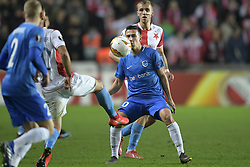 February 14, 2019 - Prague, CZECH REPUBLIC - Genk's Ivan Fiolic pictured in action during a soccer game between Czech club SK Slavia Praha and Belgian team KRC Genk, the first leg of the 1/16 finals (round of 32) in the Europa League competition, Thursday 14 February 2019 in Prague, Czech Republic. BELGA PHOTO YORICK JANSENS (Credit Image: © Yorick Jansens/Belga via ZUMA Press)