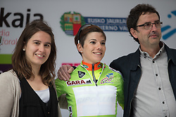 Ane Santesteban (ESP) of Ale-Cipollini Cycling Team retains the light green jersey after Stage 3 of the Emakumeen Bira - a 77.6 km road race, starting and finishing in Antzuola on May 19, 2017, in Basque Country, Spain. (Photo by Balint Hamvas/Velofocus)