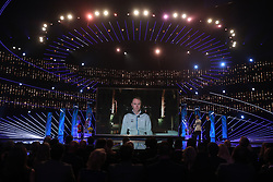 Chris Froome speaks via video link during the BBC Sports Personality of the Year 2017 at the Liverpool Echo Arena.