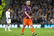 Manchester City striker Sergio Aguero (10) during the Champions League Quarter-Final 1st leg between Tottenham Hotspur and Manchester City at Tottenham Hotspur Stadium, London, United Kingdom on 9 April 2019.
