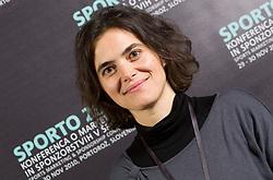 Tina Kumelj of Ljubljanske mlekarne during Sporto  2010 - Sports marketing and sponsorship conference, on November 29, 2010 in Hotel Slovenija, Portoroz/Portorose, Slovenia. (Photo By Vid Ponikvar / Sportida.com)