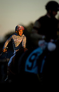 CYPRESS, CA - DEC 17: Victor Espinoza smiles at the Winter Challenge Staktes at Los Alamitos Race Course on December 17,  2016 in Cypress, California. (Photo by Alex Evers/Eclipse Sportswire/Getty Images)