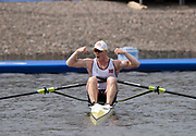 Glasgow, Scotland, Sunday, 5th  August 2018, Final Men's  Single Sculls, Gold  Medalist, NOR M1X, Kjetil BORCH,   European Games, Rowing, Strathclyde Park, North Lanarkshire, © Peter SPURRIER/Alamy Live News