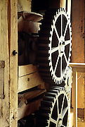 NJ, Morristown, Old gears at Historic Speedwell.