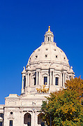 The Minnesota state capitol dome, St. Paul, Minnesota.