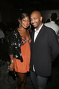 l to r: Jocelyn Taylor and LaMarr Jones at The 2008 Urbanworld Film Festival and BET Networks Afterparty saluting Fashion & Film at Espace on September 13, 2008
