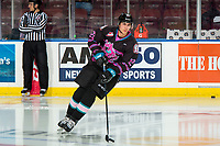 KELOWNA, BC - SEPTEMBER 21:  Dillon Hamaliuk #22 of the Kelowna Rockets warms up with the puck against the Spokane Chiefs  at Prospera Place on September 21, 2019 in Kelowna, Canada. (Photo by Marissa Baecker/Shoot the Breeze)