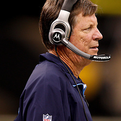 August 27, 2010; New Orleans, LA, USA; San Diego Chargers head coach Norv Turner watches from the sideline during the first half of a preseason game at the Louisiana Superdome. The New Orleans Saints defeated the San Diego Chargers 36-21. Mandatory Credit: Derick E. Hingle