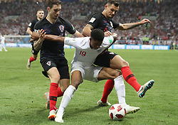 MOSCOW, July 11, 2018  Marcus Rashford (C) of England competes during the 2018 FIFA World Cup semi-final match between England and Croatia in Moscow, Russia, July 11, 2018. (Credit Image: © Cao Can/Xinhua via ZUMA Wire)