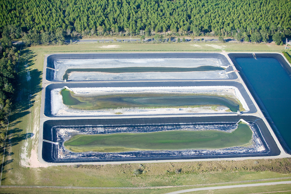 Waste ponds on agricultural farming land in Tallahassee.