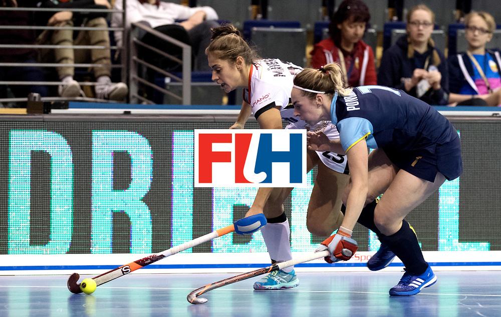 BERLIN - Indoor Hockey World Cup<br /> Women: Ukraine - Germany<br /> foto: Marie M&auml;vers.<br /> WORLDSPORTPICS COPYRIGHT FRANK UIJLENBROEK