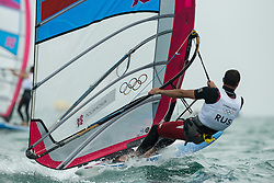 2012 Olympic Games London / Weymouth<br /> RSX man racing day 1 <br /> RS:X MenRUSPolishchuk Dmitry