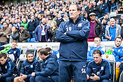 Preston North End manager Simon Grayson during the Sky Bet Championship match between Brighton and Hove Albion and Preston North End at the American Express Community Stadium, Brighton and Hove, England on 24 October 2015. Photo by Bennett Dean.