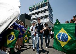 Motorsports / Formula 1: World Championship 2010, GP of Brazil, 03 Michael Schumacher (GER, Mercedes GP Petronas),   10 Nico Huelkenberg (GER, AT&T Williams),  24 Timo Glock (GER, Virgin Racing),