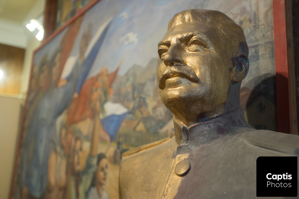 A statue of Stalin in the Communism Museum in Prague.