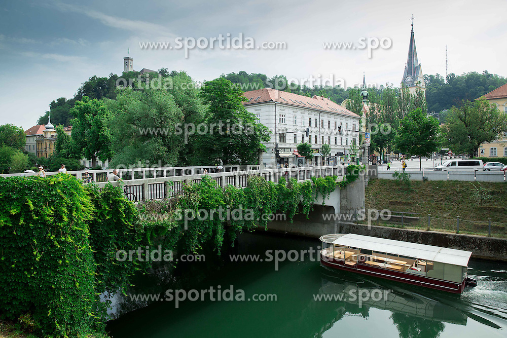 Karlovski most and river Ljubljanica on June 14, 2015 in Ljubljana, Slovenia. Photo by Vid Ponikvar / Sportida