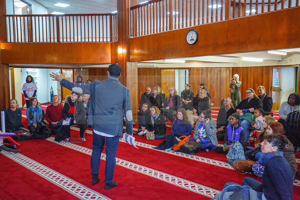 © Licensed to London News Pictures. 05/02/2017. London, UK.  An open day at Finsbury Park Mosque in North London.  On Visit My Mosque Day over 150 mosques around the UK open their doors to the public, offering a better understanding of religion in effort to counter rising Islamophobia.  Photo credit: Tolga Akmen/LNP