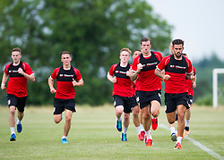 Bristol City players run in pre season training led by Bristol City's Marlon Pack and Bristol City's Aden Flint  - Photo mandatory by-line: Joe Meredith/JMP - Mobile: 07966 386802 - 01/07/2015 - SPORT - Football - Bristol - Failand Training Ground - Bristol City Pre-Season Training