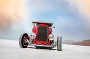 Image of a hot rod racecar at Speed Week 2018 at the Bonneville Salt Flats, Utah, American Southwest