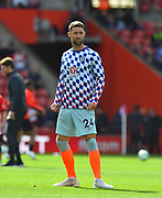 Gary Cahill (24) of Chelsea warming up before the Premier League match between Southampton and Chelsea at the St Mary's Stadium, Southampton, England on 7 October 2018.