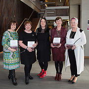 27.01.17<br /> Pictured at the Graduate Entry Medical School, University of Limerick for the launch of 'Introduction to Critical Reflection and Action for Teacher Researchers' were, authors, Caitriona McDonagh, Mary Roche, Bernie Sullivan and Mairin Glenn with Patricia Mannix McNamara (centre). Picture: Alan Place