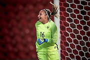 Sarah Bouhaddi (France) during the International Friendly match between England Women and France Women at the Keepmoat Stadium, Doncaster, England on 21 October 2016. Photo by Mark P Doherty.