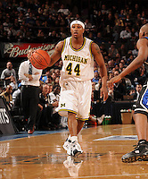 Michigan guard Kelvin Grady #44 as the Duke Blue Devils beat the Michigan Wolverines, 71-56, to win the championship of the 2K Sports Classic benefiting Coaches vs. Cancer on Friday, November 21, 2008 at Madison Square Garden.