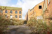 Derelict industrial buildings Innox Mills former Bowyers Works, Trowbridge, Wiltshire, England, UK
