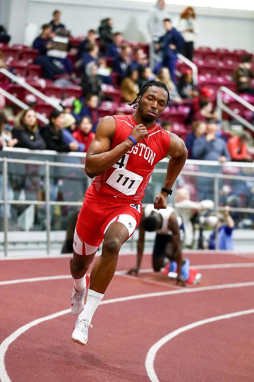 mens 200 meters, BU, Onwuzurike, Chiebuka<br /> Boston University Scarlet and White<br /> Indoor Track & Field, Bruce LeHane