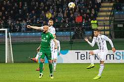 Goran Brkić of Olimpija Nino Kouter of Mura and Amadej Maroša of Mura during football match between NŠ Mura and NK Olimpija Ljubljana in 26th Round of Prva liga Telekom Slovenije 2018/19, on April 11, 2019 in Fazanerija, Murska Sobota, Slovenia. Photo by Blaž Weindorfer / Sportida
