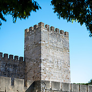 Sitting high on a hill overlooking the center of Lisbon, São Jorge Castle (or Castelo de São Jorge or Saint George Castle) is a Moorish castle. Fortifications have existed on the site for thousands of years, and the current distinctive walls date to the 14th century.