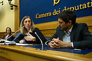 Rome jan 19th 2016, press conference to present the proposal to set up a commission of inquiry on the subject of ill-treatment and abuse of persons in conditions of deprivation or limitation of personal freedom. In the picture Ilaria Cucchi, Celeste Costantino, Nicola Fratoianni