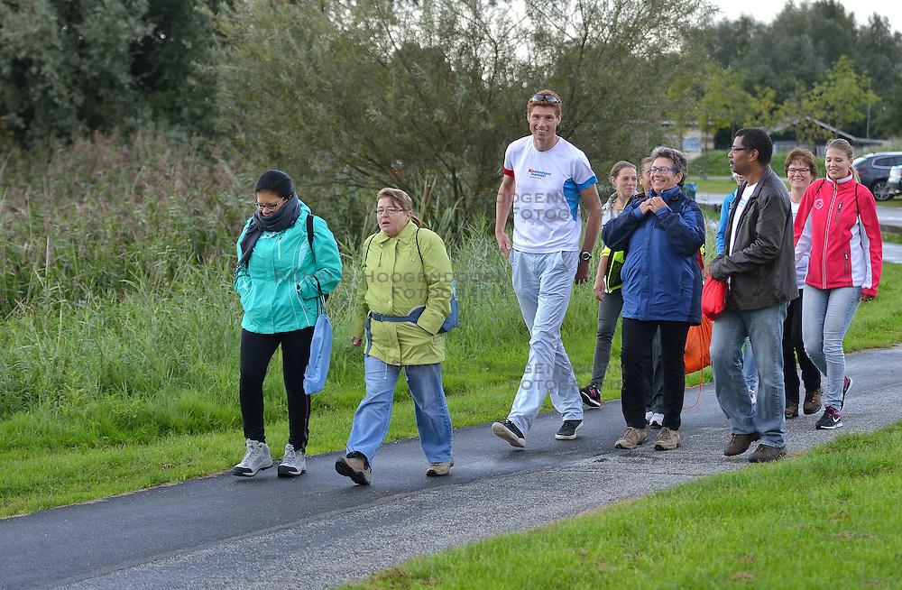 14-09-2015 NED: Nieuwegein Diabetes Challenge, Nieuwegein<br /> Bas van de Goor gaf vandaag het startschot voor de Nieuwegein Diabetes Challenge dat een initiatief is van de vier gezondheidscentra in Nieuwegein: De Roerdomp, De Schans, EMC Nieuwegein en Zorgplein Zuid.