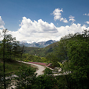 La vista sulle montagne piemontesi dall'agriturismo La Colma