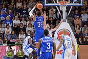 DESCRIZIONE : Beko Legabasket Serie A 2015- 2016 Dinamo Banco di Sardegna Sassari - Enel Brindisi<br /> GIOCATORE : Kenneth Kadji<br /> CATEGORIA : Tiro Tre Punti Three Point Controcampo<br /> SQUADRA : Enel Brindisi<br /> EVENTO : Beko Legabasket Serie A 2015-2016<br /> GARA : Dinamo Banco di Sardegna Sassari - Enel Brindisi<br /> DATA : 18/10/2015<br /> SPORT : Pallacanestro <br /> AUTORE : Agenzia Ciamillo-Castoria/L.Canu