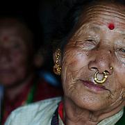 Nepal 2014. Pangma village. Dachema and neighbour. Two older women.