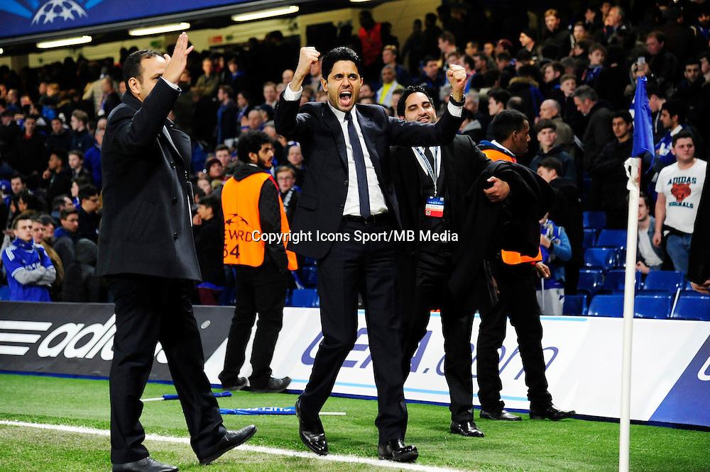 Joie Nasser AL KHELAIFI - 11.03.2015 - Chelsea / Paris Saint Germain - 1/8Finale retour Champions League<br /> Photo : Dave Winter / Icon Sport